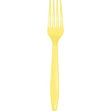 Touch of Color Mimosa Yellow Plastic Forks, 24 pk (010472)