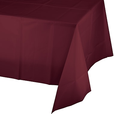 Touch of Color Burgundy Red Plastic Tablecloth (723122)