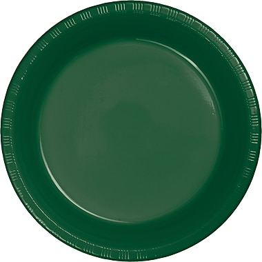 Touch of Color Hunter Green Plastic Plates, 20 pk (28312421)
