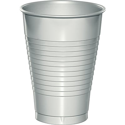 Touch of Color Shimmering Silver 12 oz Plastic Cups, 20 pk (28106071)