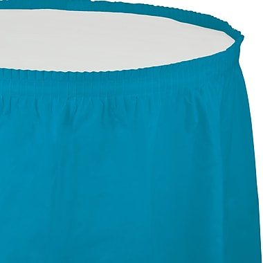 Touch of Color Turquoise Blue Plastic Tableskirt (743131)