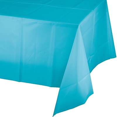 Touch of Color Bermuda Blue Plastic Tablecloth (011390)