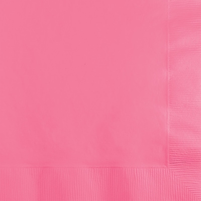 Touch of Color Candy Pink Beverage Napkins, 50 pk