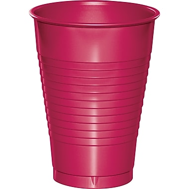 Touch of Color Hot Magenta Pink 12 oz Plastic Cups, 20 pk (28177071)