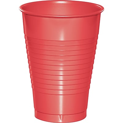 Touch of Color Coral 12 oz Plastic Cups, 20 pk (28314671)