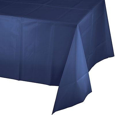 Touch of Color Navy Blue Plastic Tablecloth (010140LX)