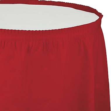 Touch of Color Classic Red Plastic Tableskirt (010052)