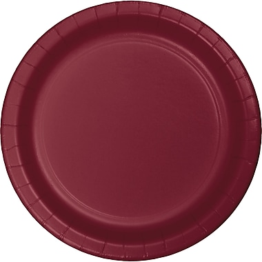 Touch of Color Burgundy Red Dessert Plates, 24 pk (793122B)