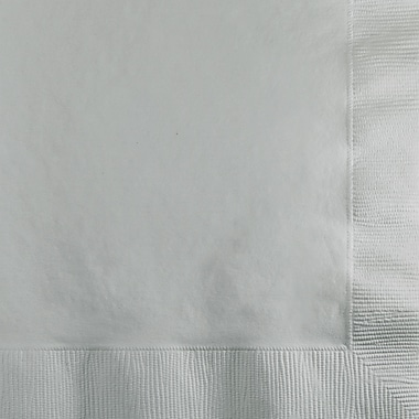 Touch of Color Shimmering Silver Beverage Napkins, 200 pk