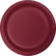 Touch of Color Burgundy Red Paper Plates, 24 pk (473122B)