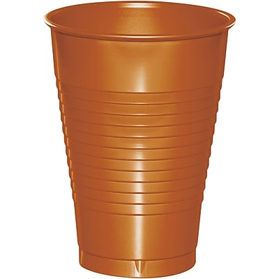 Touch of Color Pumpkin Spice Orange 12 oz Plastic Cups, 20 pk (323391)