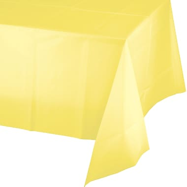 Touch of Color Mimosa Yellow Plastic Tablecloth (01252)