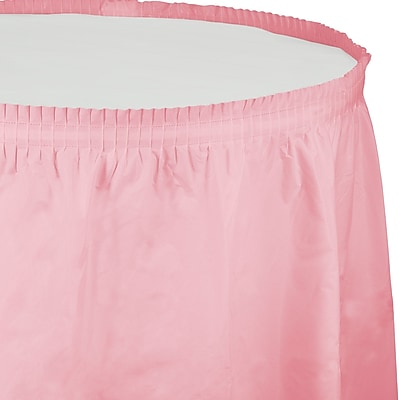 Touch of Color Classic Pink Plastic Tableskirt (010016)