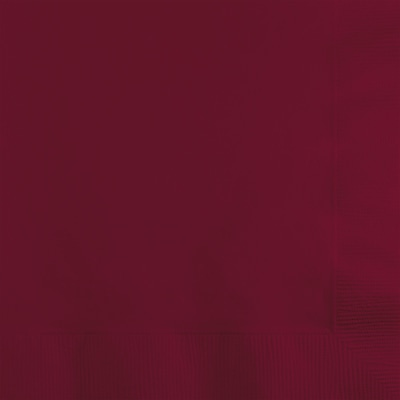 Touch of Color Burgundy Red Beverage Napkins, 50 pk