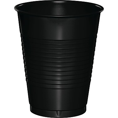 Touch of Color Black 16 oz Plastic Cups, 50 pk (28134081B)