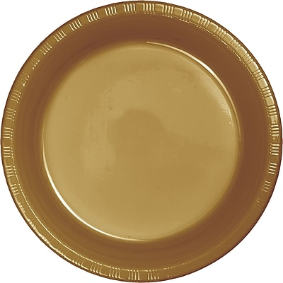 Touch of Color Glittering Gold Plastic Plates, 20 pk (28103021)