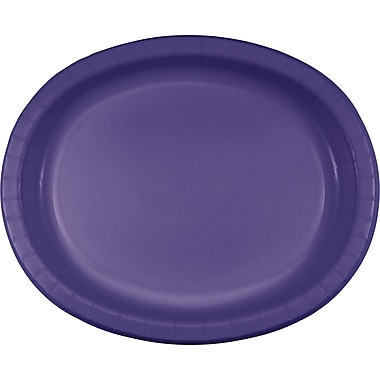Touch of Color Purple Oval Plates, 8 pk (433268)