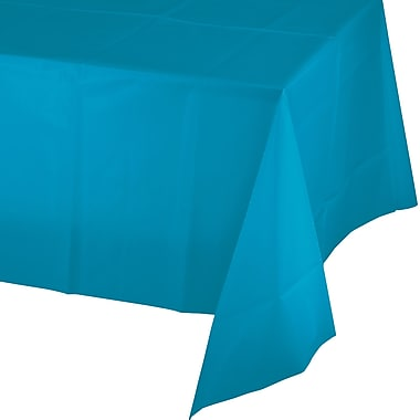 Touch of Color Turquoise Blue Plastic Tablecloth (723131)