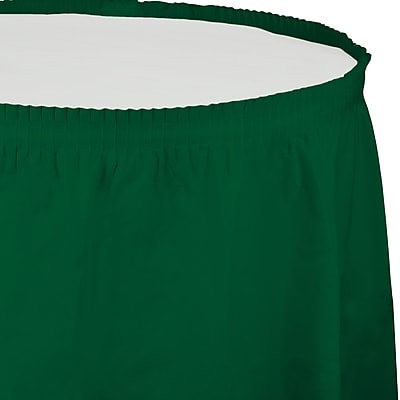 Touch of Color Hunter Green Plastic Tableskirt (743124) 2634542