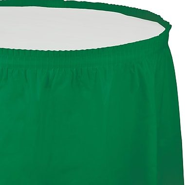 Touch of Color Emerald Green Plastic Tableskirt (010020)