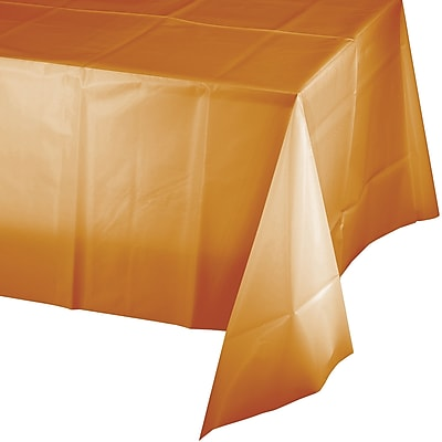 Touch of Color Pumpkin Spice Orange Plastic Tablecloth (323400)