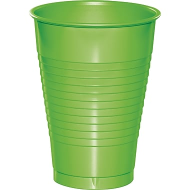 Touch of Color Fresh Lime Green 12 oz Plastic Cups, 20 pk (28312371)