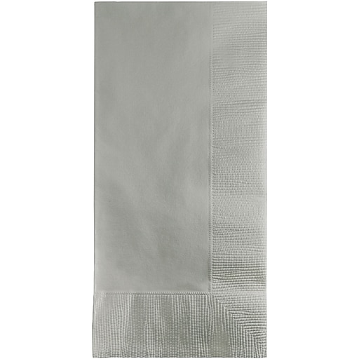 Touch of Color Shimmering Silver Napkins, 50 pk