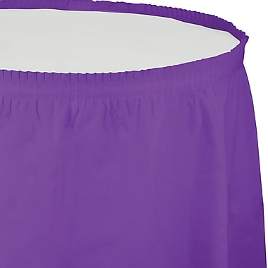 Touch of Color Amethyst Purple Plastic Tableskirt (318931)