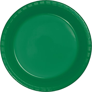 Touch of Color Emerald Green Plastic Plates, 20 pk (28112021)