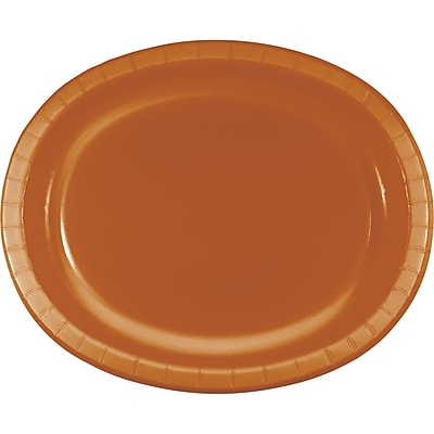Touch of Color Pumpkin Spice Orange Oval Plates, 8 pk (323387)