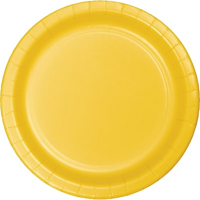 Touch of Color School Bus Yellow Dessert Plates, 75 pk (753269B)