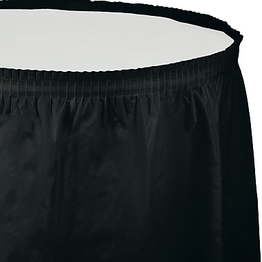 Touch of Color Black Plastic Tableskirt (010012)