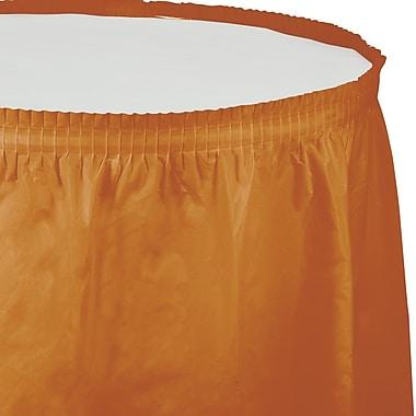 Touch of Color Pumpkin Spice Orange Plastic Tableskirt (323382)