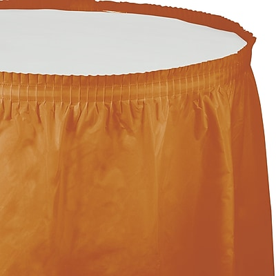 Touch of Color Pumpkin Spice Orange Plastic Tableskirt (323382)