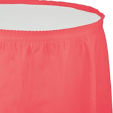 Touch of Color Coral Plastic Tableskirt (743146)