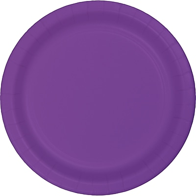 Touch of Color Amethyst Purple Dessert Plates, 24 pk (318933)