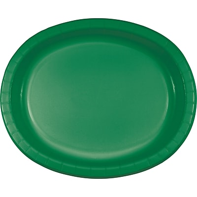 Touch of Color Emerald Green Oval Plates,