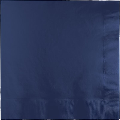 Touch of Color Navy Blue Napkins, 6.5 x 6.5, 50 pk