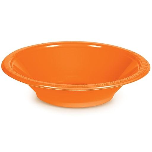 Touch of Color Sunkissed Orange 12 oz Plastic Bowls, 20 pk (28191051)