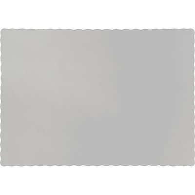Touch of Color Shimmering Silver Placemats, 50 pk (863281B)