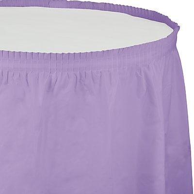 Touch of Color Luscious Lavender Purple Plastic Tableskirt (010034)