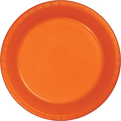 Touch of Color Sunkissed Orange Plastic Plates, 20 pk (28191021)