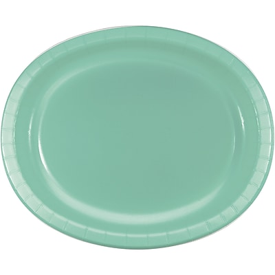 Touch of Color Fresh Mint Green Oval Plates, 8 pk (318885)