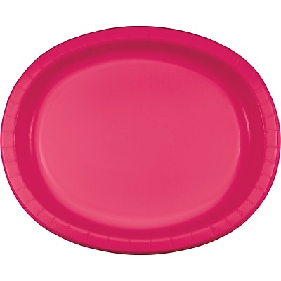 Touch of Color Hot Magenta Pink Oval Plates, 8 pk (433277)