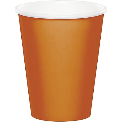 Touch of Color Pumpkin Spice Orange Cups, 24 pk (323394)