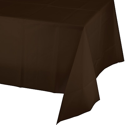 Touch of Color Chocolate Brown Plastic Tablecloth (723038) 2634551
