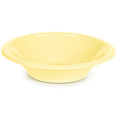 Touch of Color Mimosa Yellow 12 oz Plastic Bowls, 20 pk (28102051)