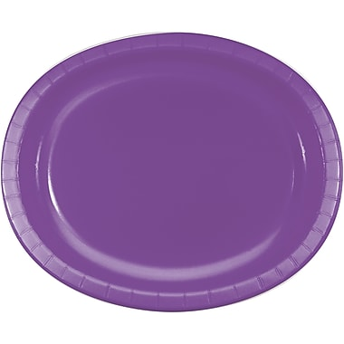 Touch of Color Amethyst Purple Oval Plates, 8 pk (318924)