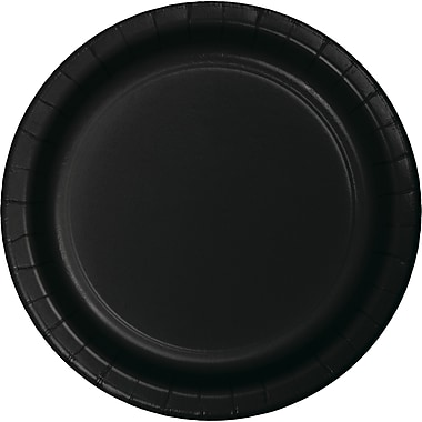 Touch of Color Black Dessert Plates, 75 pk (753260B)