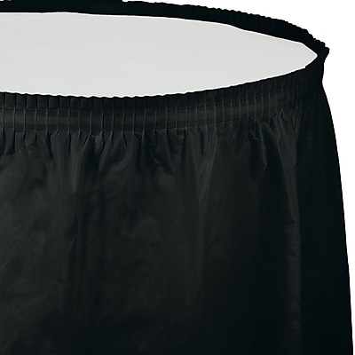Touch of Color Black Plastic Tableskirt (733260)